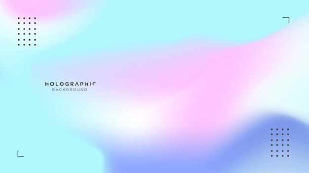 Holografische blauwe en roze achtergrond