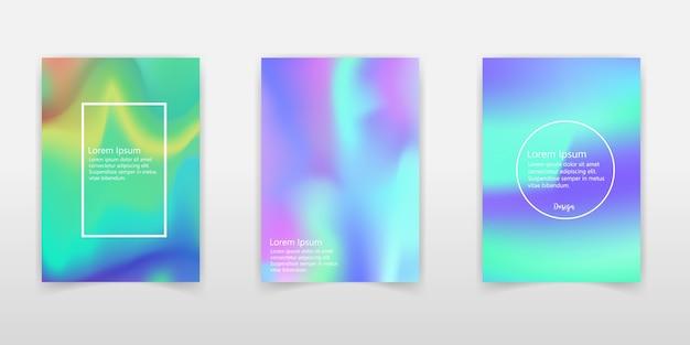 Holografische folie achtergronden instellen.