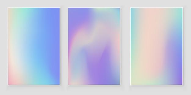 Holografische folie gradiënt iriserende dekking abstracte dekking set