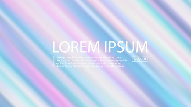 Holografische gradient mesh vector achtergrond. pastel rainbow texture.