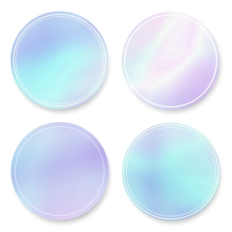 Holografische gradiënt ronde frames instellen