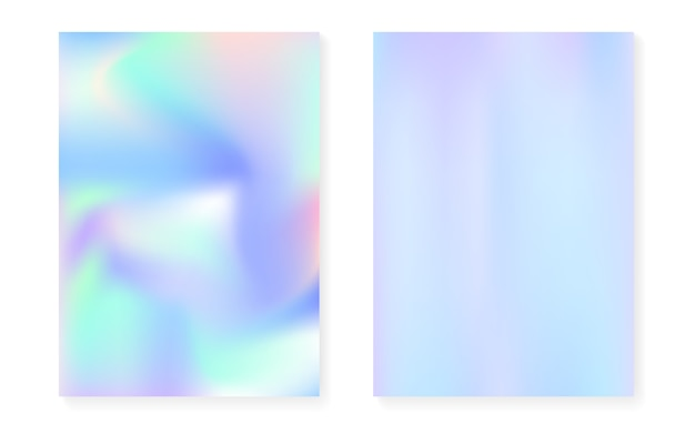 Holografische gradiëntachtergrond die met hologramdekking wordt geplaatst.
