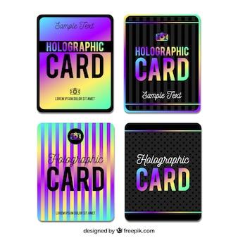 Holografische kaarten pakken
