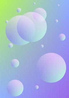Holografische omslag met radiale vloeistof. geometrische vorm op verloop achtergrond. moderne hipster sjabloon voor plakkaat, presentatie, banner, flyer, rapport, brochure. minimale holografische omslag, neonkleuren.