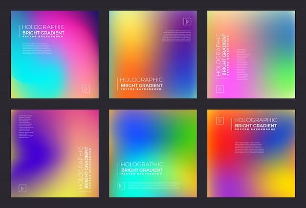 Holografische vloeistof heldere gradiënt