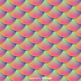 Holografische zeemeermin staart achtergrond