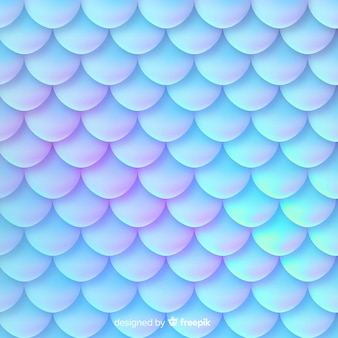 Holografische zeemeerminstaart decoratieve achtergrond
