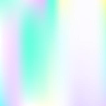 Hologram abstracte achtergrond. kunststof verloopnet achtergrond met hologram. retro-stijl uit de jaren 90, 80. iriserende grafische sjabloon voor banner, flyer, omslagontwerp, mobiele interface, webapp.