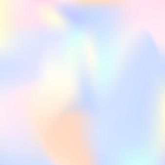 Hologram abstracte achtergrond. stijlvolle verloopnetachtergrond met hologram. retro-stijl uit de jaren 90, 80. iriserende grafische sjabloon voor brochure, flyer, posterontwerp, behang, mobiel scherm.
