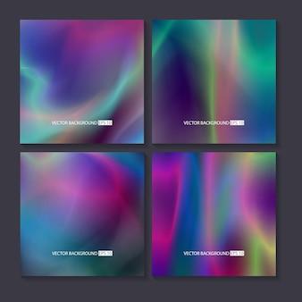 Hologram heldere kleurrijke achtergronden instellen.
