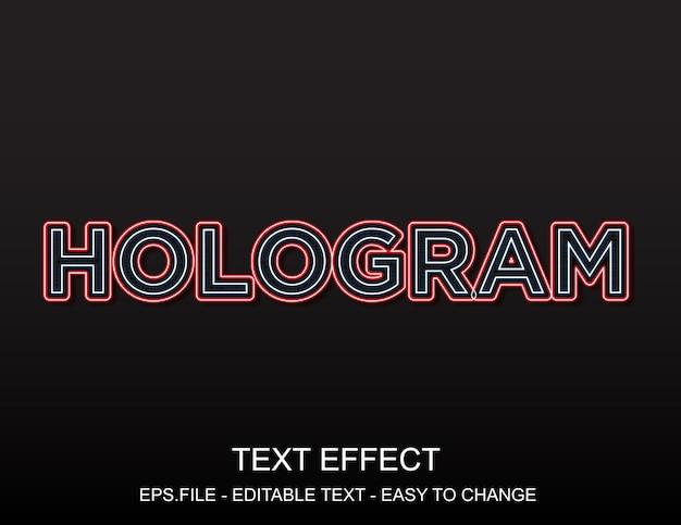 Hologram tekst effect
