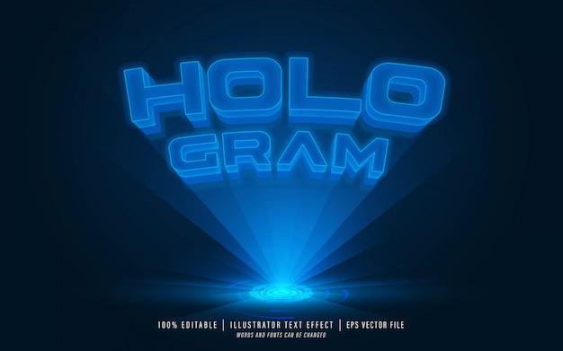 Hologram teksteffect - bewerkbaar teksteffect