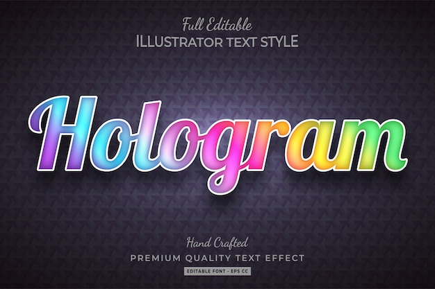 Hologram tekststijl effect premium