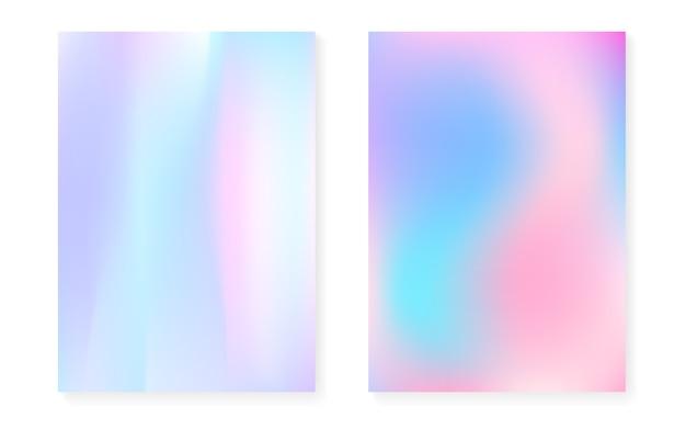 Hologram verloop achtergrond instellen met holografische dekking.