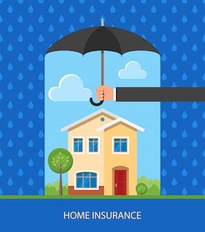 Home bescherming plan illustratie