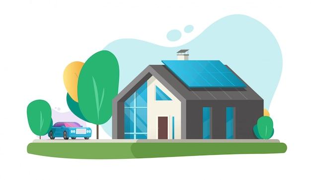 Home eco moderne toekomstige of hedendaagse luxe huisvilla