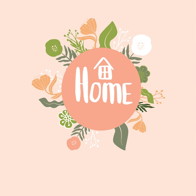 Home floral vector