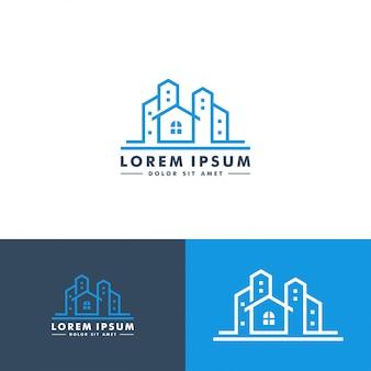 Home gebouw logo ontwerp