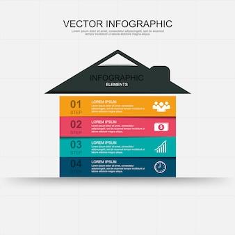 Home infographic elementen ontwerp