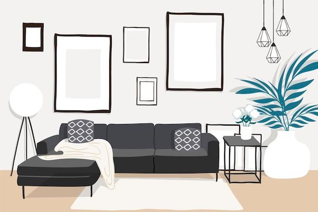 Home interieur achtergrondthema