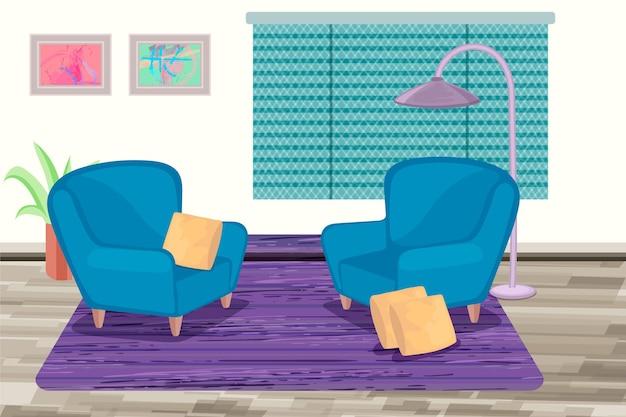 Home interieur behang voor videoconferenties
