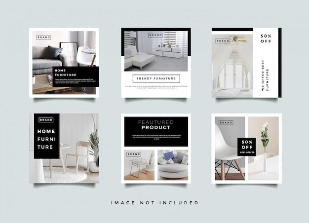 Home interieur instagram verhalen promotie sjabloon