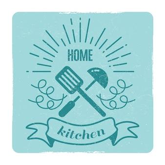 Home keuken, thuis koken label