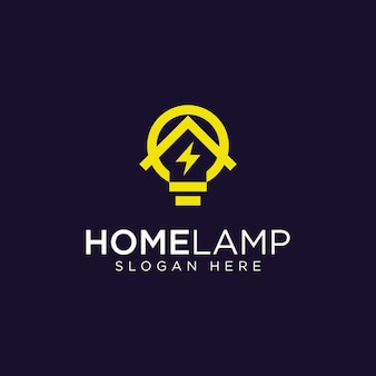 Home lamp modern logo ontwerp premium sjabloon voorraad