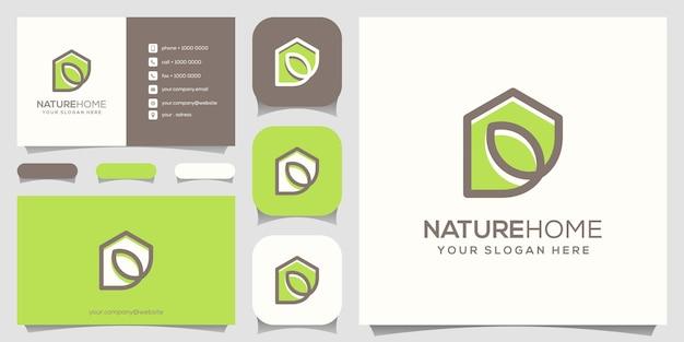 Home leaf-logo en visitekaartje