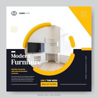 Home minimalistisch meubilair social media postsjabloon
