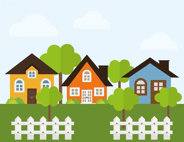 Home ontwerp illustratie