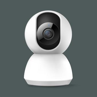 Home-panoramische wifi bewakingscamera geïsoleerd op grijze achtergrond