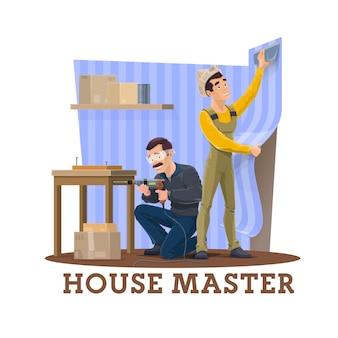 Home renovatie servicemedewerker in uniform