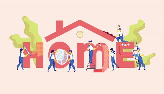 Home reparatie service. master renovatie appartement.