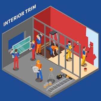 Home reparatie werknemer mensen samenstelling