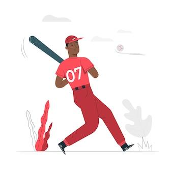 Home run concept illustratie