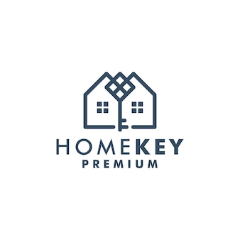 Home sleutel logo sjabloon huis pictogram ontwerp logo vector