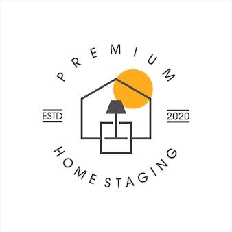 Home stages logo woonkamer zakelijk