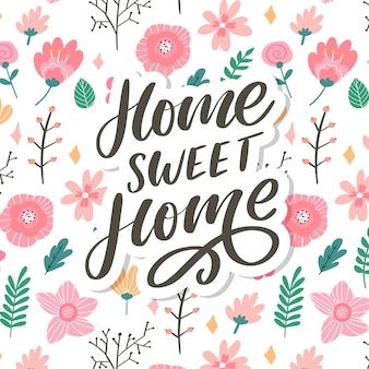 'home sweet home' hand belettering