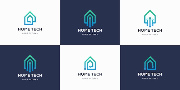 Home-technologie logo-collectie