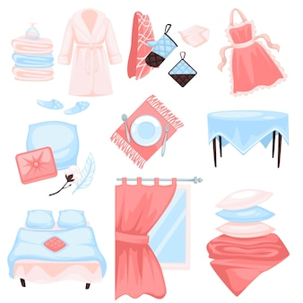 Home textiel, katoenen stof houe items