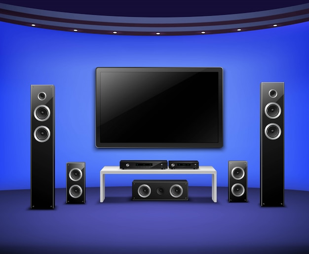 Home theater realistische interieurconcept