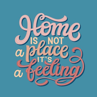 Home vector typografie