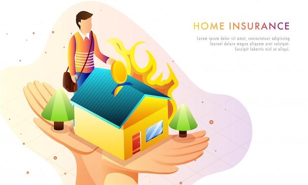 Home verzekering concept.