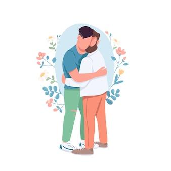 Homo paar platte concept illustratie