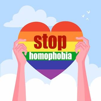 Homofobie concept stoppen