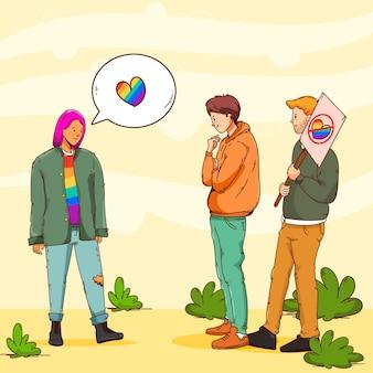 Homofobie concept