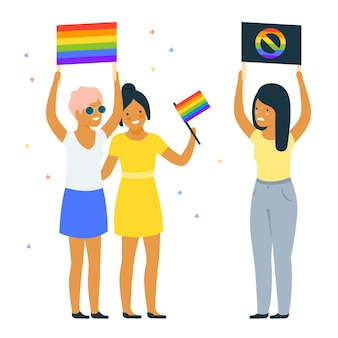 Homofobie illustratie concept