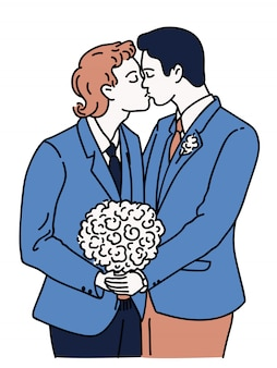 Homomannen trouwden