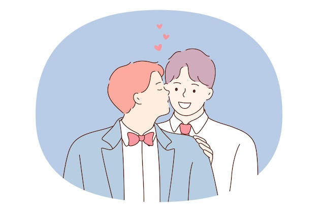Homopaar, homoseksualiteit, gelijkheid van mensen concept.